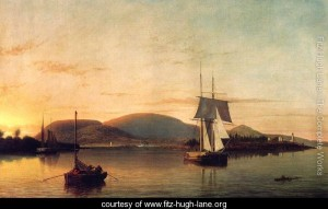 Fitz Henry Lane, Camden Mountains from the South Entrance to the Harbor 1859
