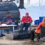 Tailgating on Hosmer Pond