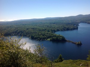 Megunticook Lake - the view from Maiden Cliff