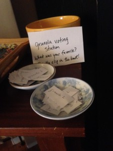 Granola voting station
