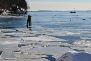Ice in Rockport Harbor